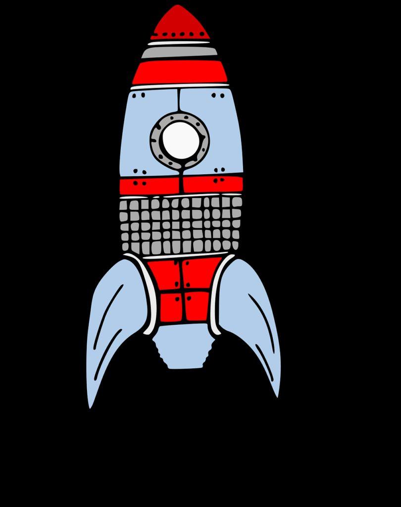 rocket, spaceship, take off